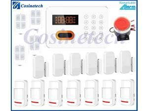Touch keypad tube screen display PSTN burglar alarm system,home security alarm system with English/Russian/Spanish voice