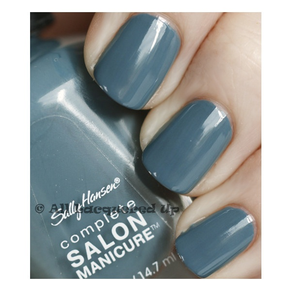 "Sally Hansen gray nail polish.    "":O)"