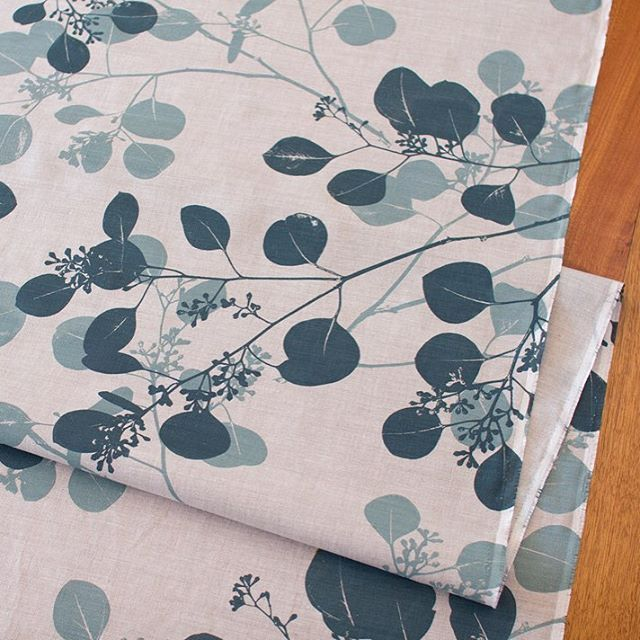 Ink and Spindle Silver Gum Fabric