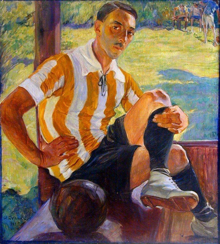 Ольга Делла-Вос-Кардовская. «Футболист». 1930-е. Холст, масло.