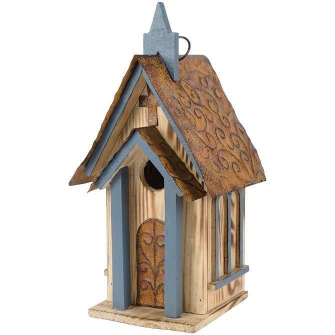 Bird House - Church (Blue) #birdhouses #birdhouseideas