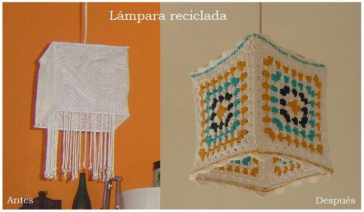A esta lámpara le cambié el estilo para colocarla en un escritorio - cuarto de huéspedes.