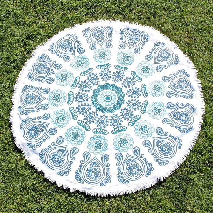 moana round beach towel