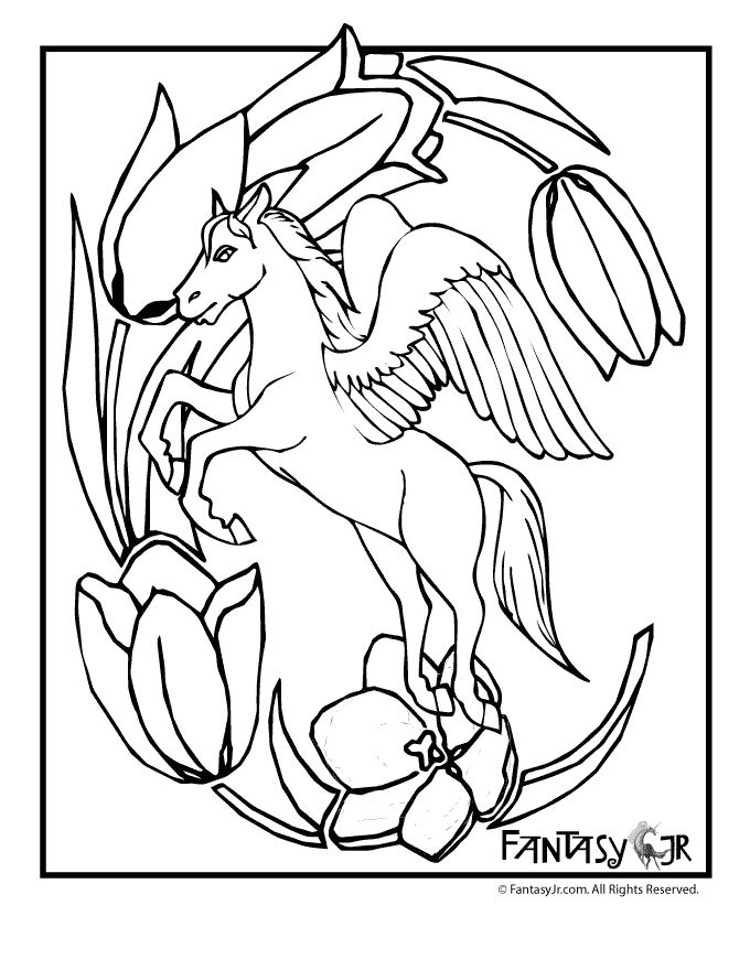 97 Best Pegasus To Color Images On Pinterest