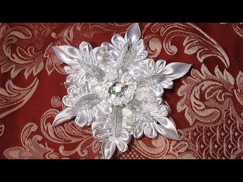 DIY Crafts Christmas decorations, Снежинка Канзаши, Christmas Snowflakes Kanzashi Tatiana Vasyliuk - YouTube