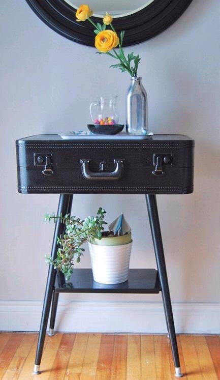 What else can you do with an old suitcase? Love it