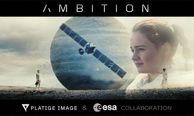 """To spark your curiosity, I'm going to tell you just a few things about the movie: – it is about a Master (Aidan Gillen – Littlefinger of """"Game of Thrones"""") and his young Apprentice (Aisling Franciosi), acting as gods and turning rubble into planets, moons, asteroids and comets, while talking about the beginning of their knowledge, the first mission that chased a comet. Enjoy!"""