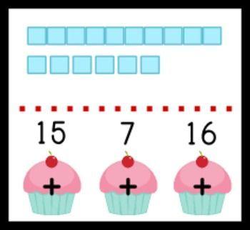 FREE Cupcake Place Value Poke Game - fun, engaging, and self-checking!