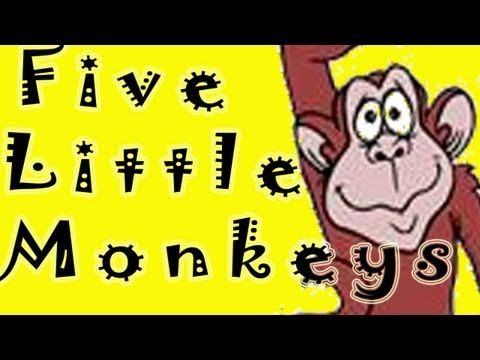 ▶ FIVE LITTLE MONKEYS JUMPING ON THE BED by THE LEARNING STATION - YouTube