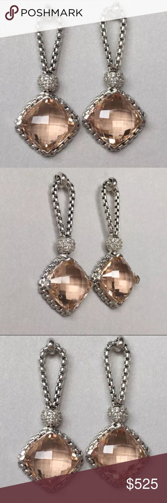 David Yurman Cushion on Point Morganite Earrings So gorgeous! These are such a great set! They go with everything from an evening gown to jeans to business attire. David Yurman Jewelry Earrings
