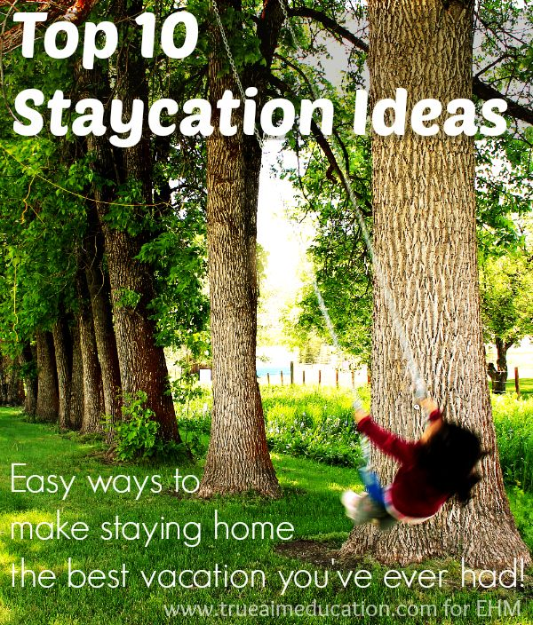Top 10 Staycation Ideas - Enchanted Homeschooling Mom