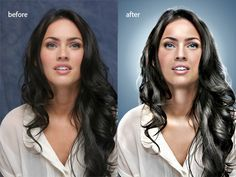 Jill Greenberg look Photoshop tutorial before and after