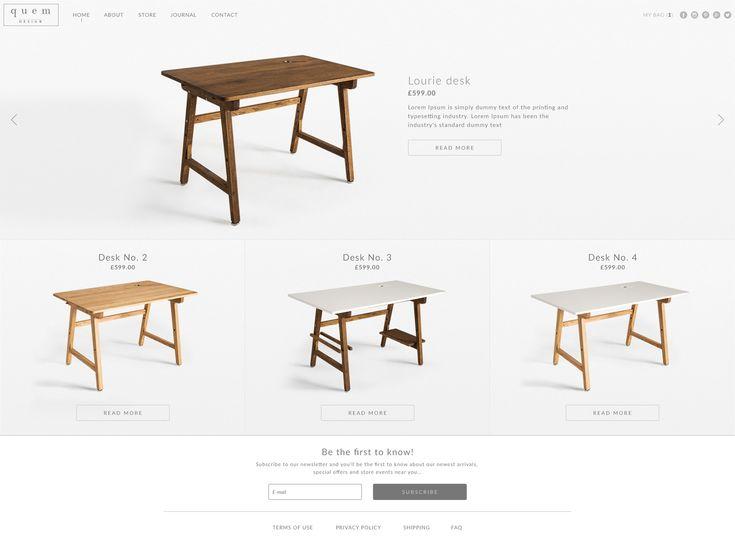 Quem design online shop, e-commerce, clean design, elegant website, responsive website