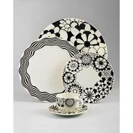 Missoni Home Collection - Black u0026 White Dinnerware.  sc 1 st  Pinterest & 94 best Black and white dinnerware images on Pinterest | Dish sets ...