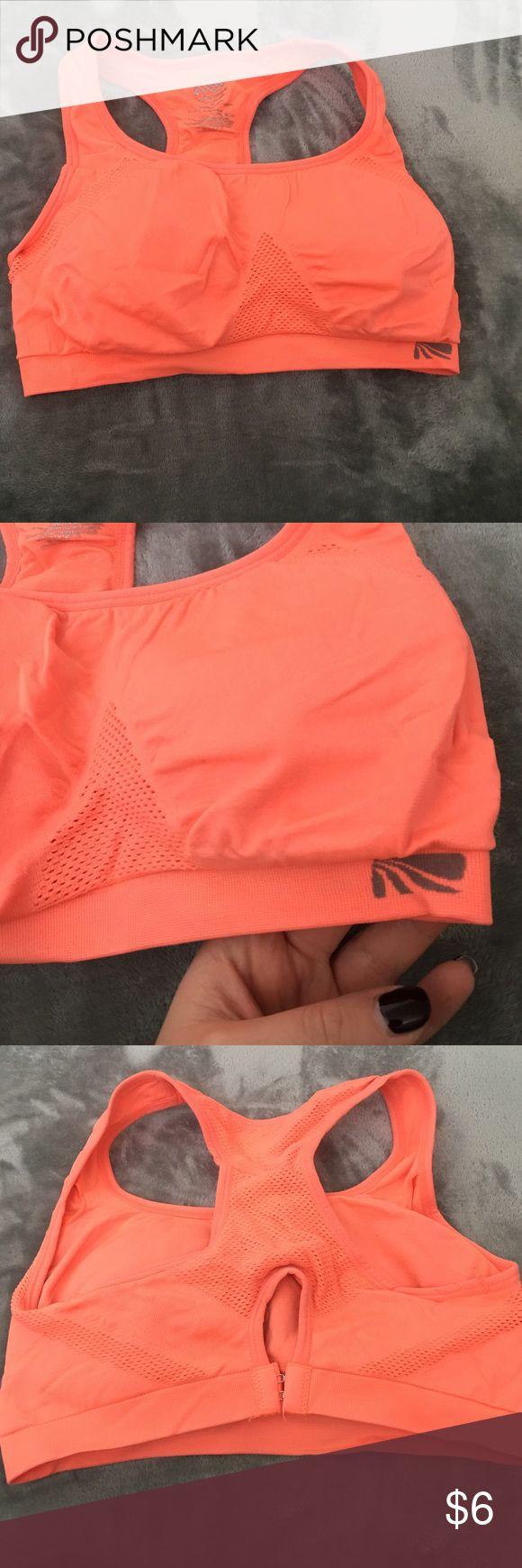 Neon orange sports bra size medium Used Marika magic neon orange sports bra in size medium. Marika Intimates & Sleepwear Bras