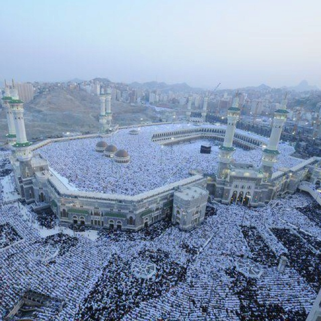 The Hajj Pilgrimage to Mecca. It is said that every persons of the Islamic Faith should make this pilgrimage at least once in their life time. A highly significant religious sacred space which is different from other examples because it comes in the form of a journey, rather than a set place.