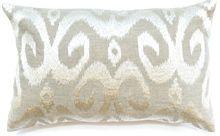 Ikat Ivory Lumber Cushion Boyd Blue