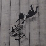 That Banksy's off his trolley. #streetart #art #london