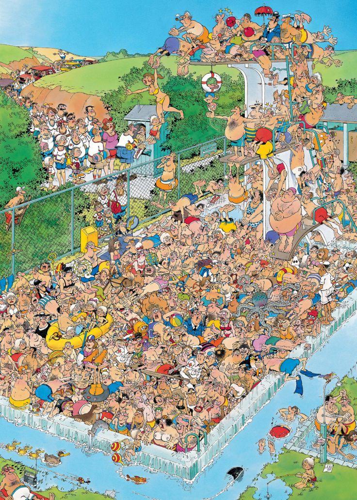 Jan van Haasteren - Zwembad