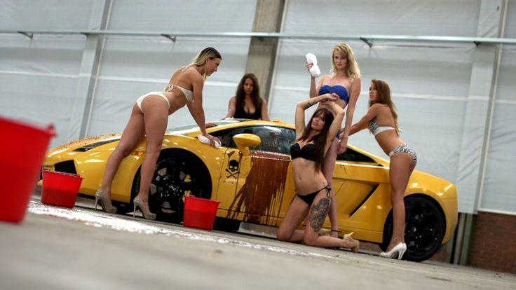 Playboy Playmates Wash A Lamborghini While Wearing Skimpy Bikinis (Video)