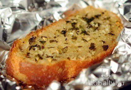 Garlic bread    száraz kenyér felhasználás, feltét spenótfőzelékhez