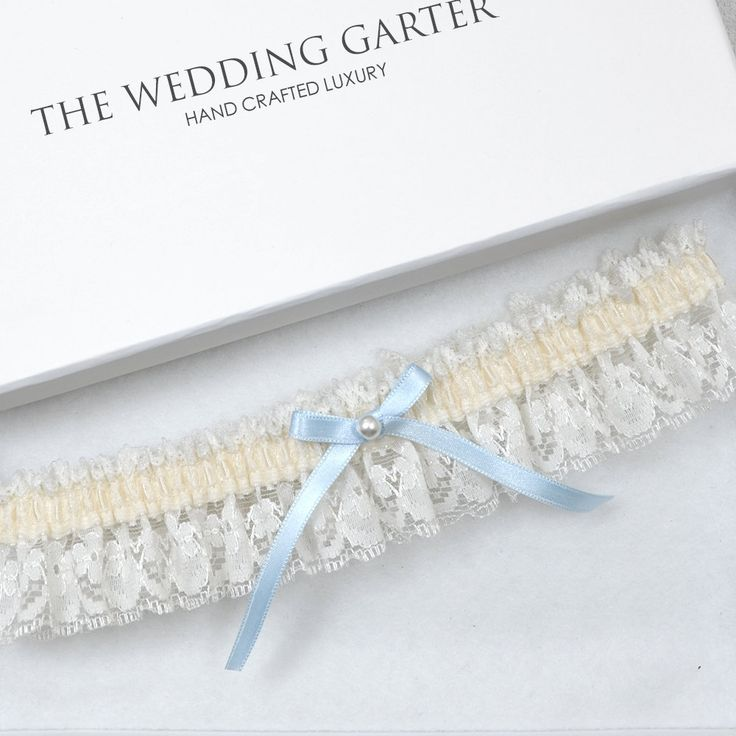 Ivory Lace Wedding Garter, Bridal Garter, Toss Garter, Wedding Garter, Cream Garter, Ivory Garter, Something Blue, Blue Garter, Garter by theweddinggarter1 on Etsy
