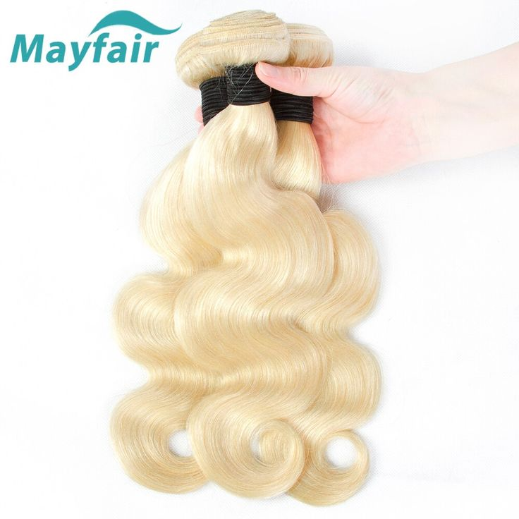 Mayfair 613 Honey Blonde Bundles Body Wave Brazilian Hair Weave Bundles 100% Remy Human Hair Extensions 3pcs Weft