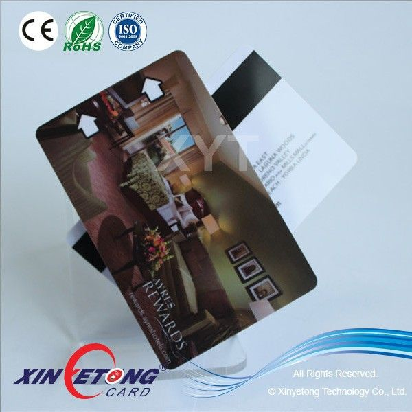 blank PVC material magnetic key card