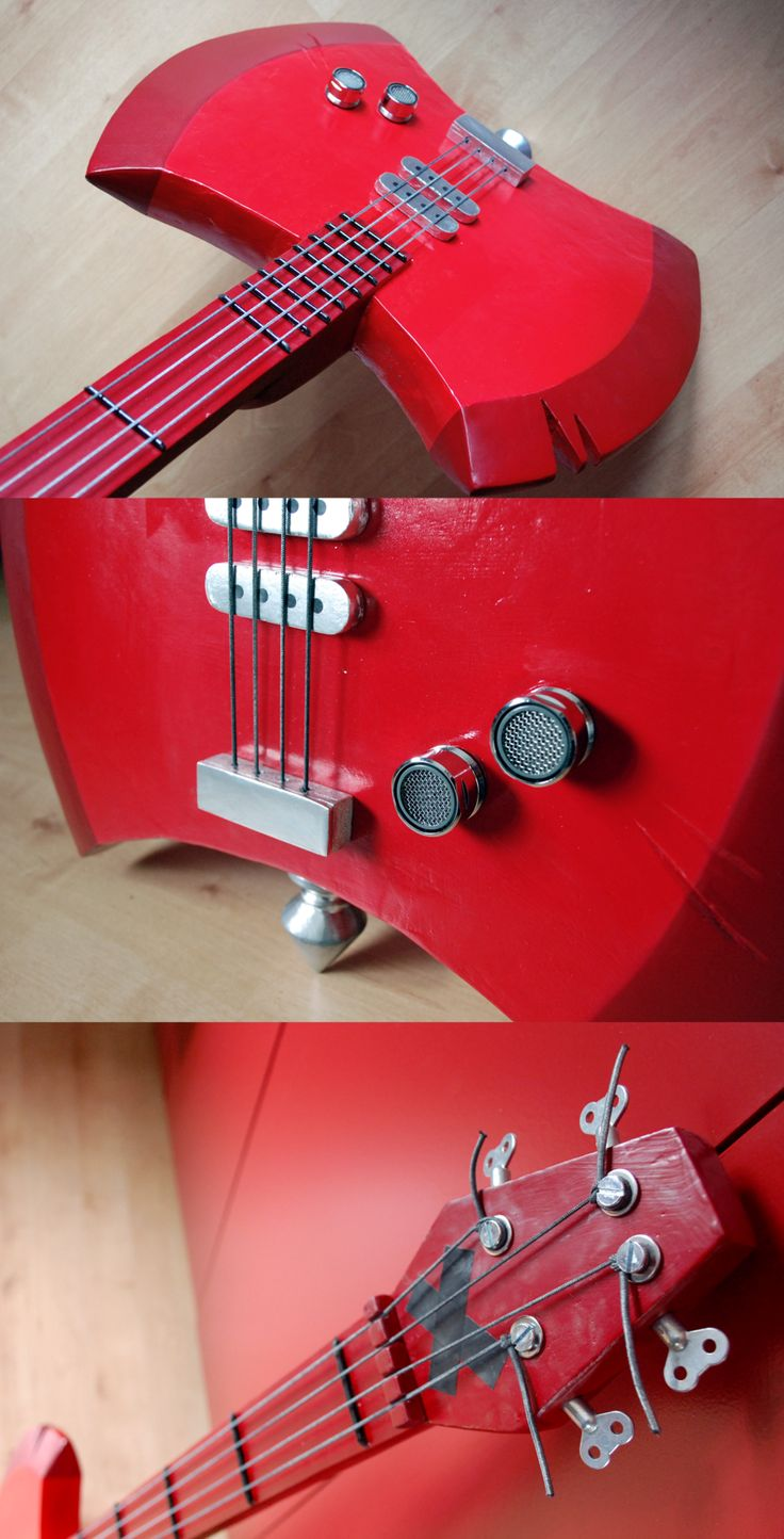I made Marceline's bass guitar from Adventure time! I received an ask on Tumblr as to how i made it. So here is the post where i try to explain: wingedanklets.tumblr.com/post/…