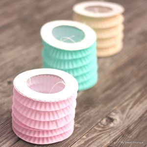 Image of ** Garden party * Jolis petits lampions couleurs pastel