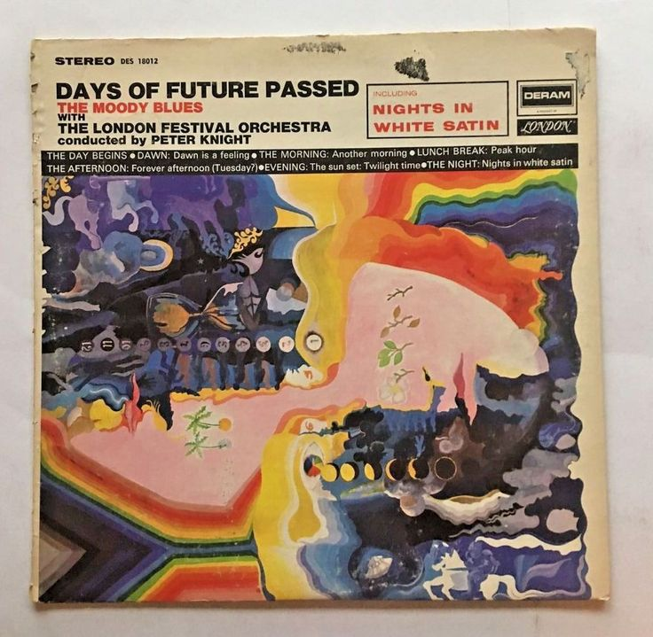 THE MOODY BLUES [LP] DAYS OF FUTURE PASSED (VINYL 1967 DECCA RECORDS) DES 18012 #CLASSICROCK