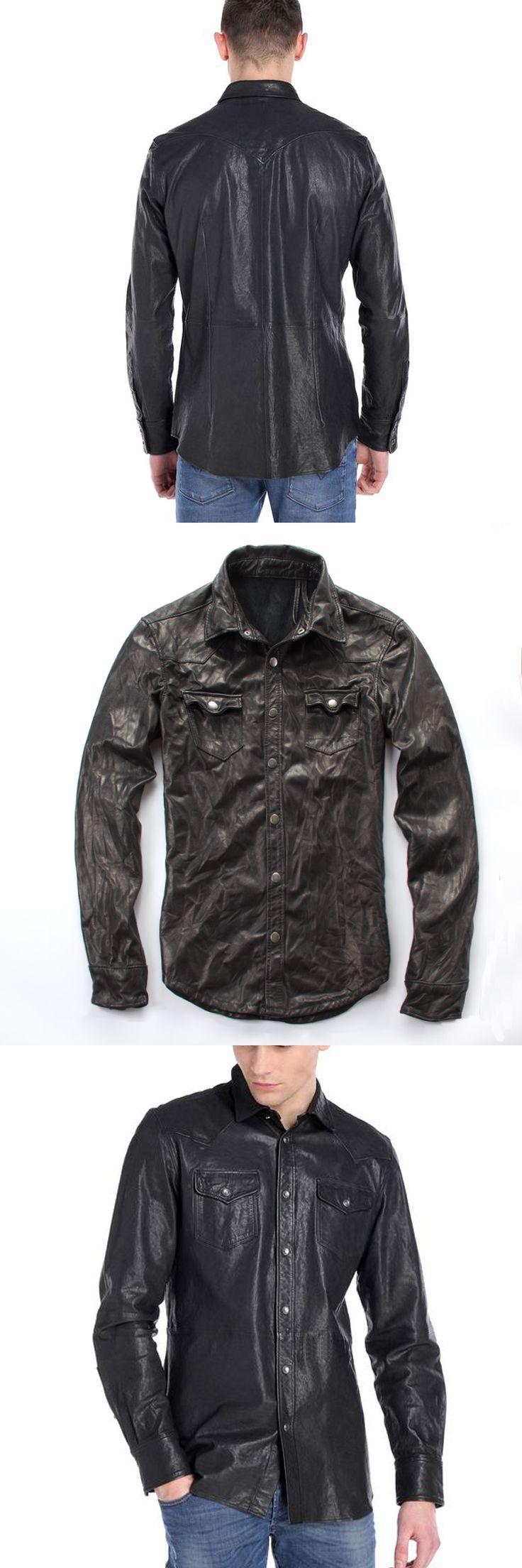 Free shipping.Sales winter warm Sheepskin jackets,men's slim genuine sheep leather,motorcycle biker clothing.Brand