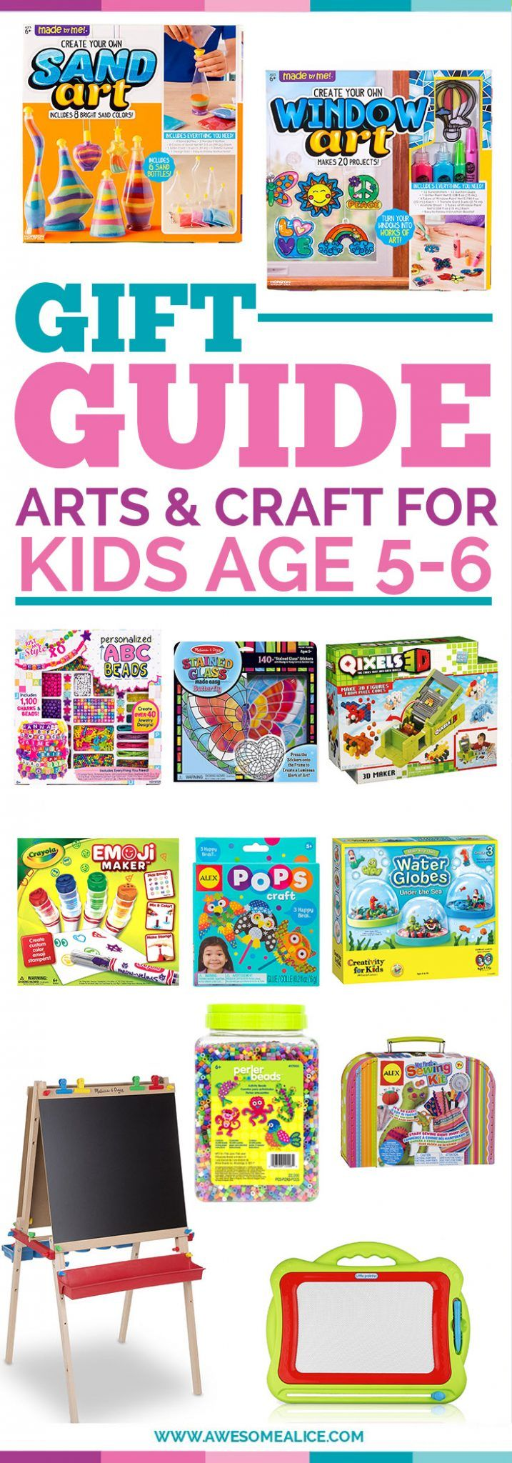 Arts & Crafts Gift Guide For Kids | Christmas Gifts For Kids | Perfect Christmas Gift For Five year olds | The Best Non-Toy Gifts | The Best Kids Toys For six Year olds | Kids Christmas Gift Guide | The Best Children Gift Guide | Holiday Gifts For Kids #musthaveproducts #bestproducts #ChristmasGifts #giftguide #kids #Christmas #Non-toys #ChristmasGifts | www.awesomealice.com
