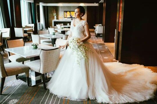 Vera Wang inspired wedding gown