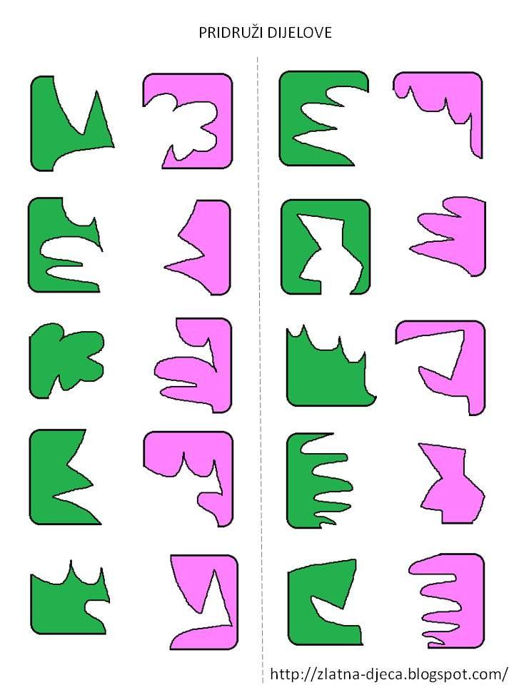 Welke stukken passen in elkaar?