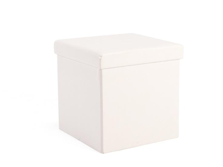 KD PU cube 40 x 40 White HH - R200