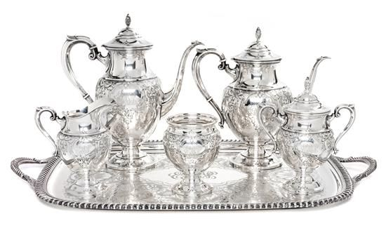 A Silver Coffee and Tea Service, M. Fred Hirsch Co., Jersey City, NJ, St. J | Fine Silver | St. Louis Spring Auction | April 7, 2017 in St. Louis