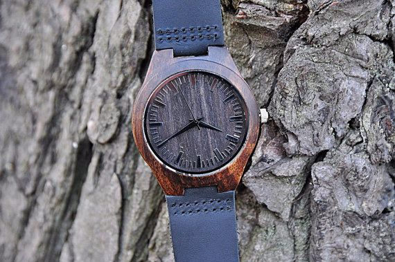 Engraved Wood Watch, father gift, Groomsmen Gift, Father Gift, Mens watch, Anniversary Gift for men, Boyfriend Gift