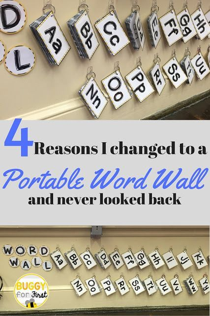 A Portable Word Wall is a game changer in the classroom. It is interactive and engaging. Once you have one, you never look back.