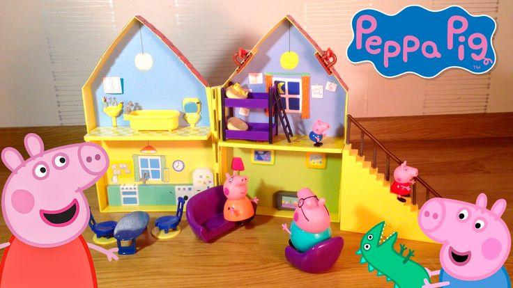 играть свинка пеппа новый дом