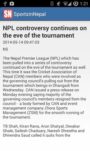 Looking for latest updates in Nepali Sports?<p>Sports In Nepal brings the latest news, live scores, interviews and all the happenings in Nepali Sports. Sports in Nepal is a sports blog which provides latest sports news from Nepal. <p>The android version of Sports In Nepal makes it even easier to access the sports news right on you android phone. <p>Keywords: Sports in Nepal, Cricket, Football, BasketBall, Tennins, Judo.  http://Mobogenie.com