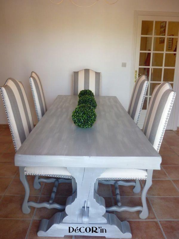 Table de salle à manger relookée, avant après - DeCOR\'in ...