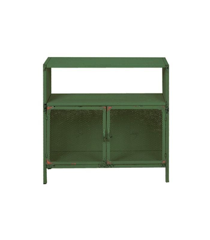 Armario Quarto Porta Correr Tok Stok ~ Aparador auxiliar verde con dos puertas 80X30X80CM inspiración de ilusiones Pinterest