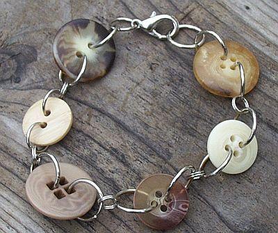 vintage buttons, handmade bracelet