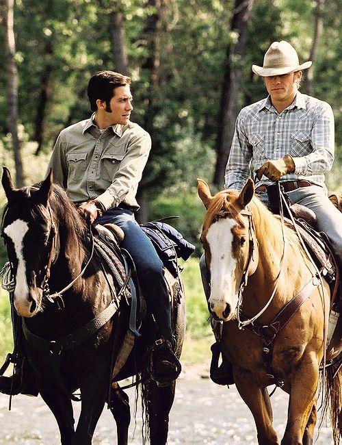Jake Gyllenhaal & Heath Ledger in Brokeback Mountain