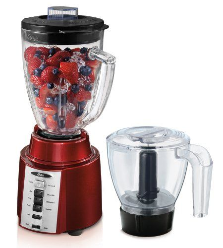 Oster BCCG08-RFP-NP9 8-Speed Blender with Food Processor Attachment,  Metallic Red Oster http://www.amazon.com/dp/B009NIN2UU/ref=cm_sw_r_pi_dp_rJf0tb1WY98JFRPJ  double whammy puree and blender.