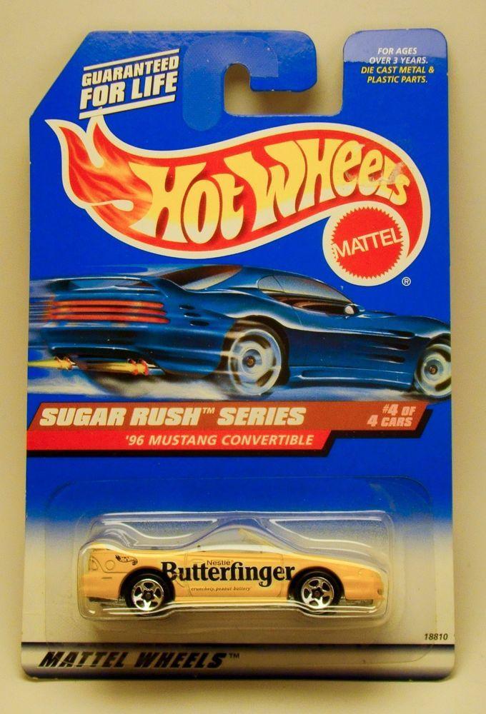Hot Wheels Sugar Rush Series Butterfinger 96 Mustang Convertible #HotWheels #Ford