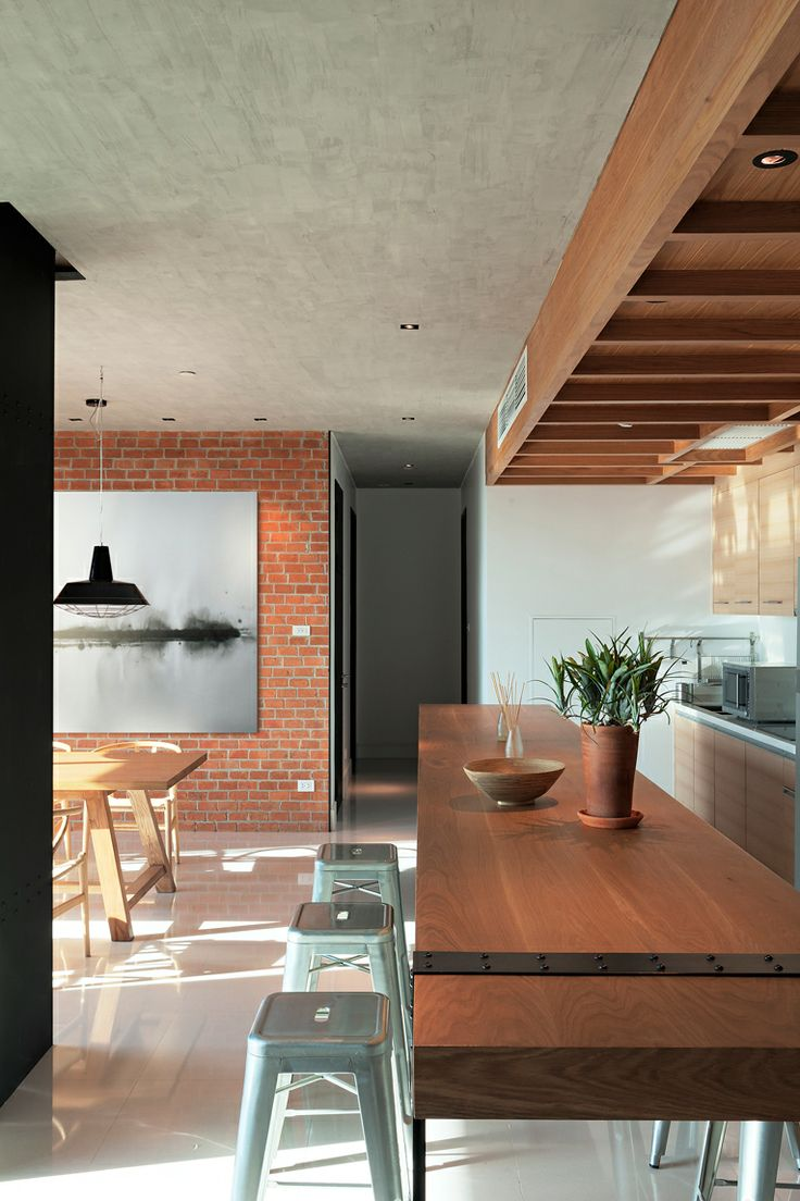 Auguston Condominium By Whitespace Industrial InteriorsBrick