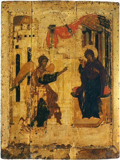 Праздничный чин Благовещенского собора. Рублев. Благовещение.