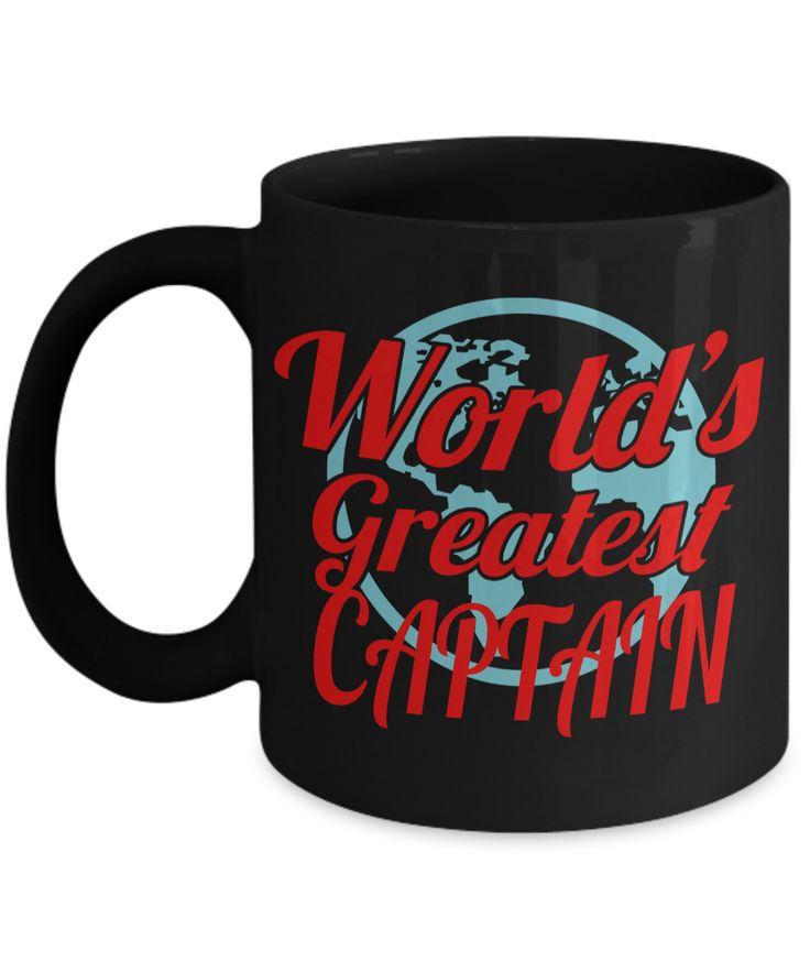 Captain Mug- Sailing Mug - Boating Mug- Sailing Gifts For Women-Captain Gifts For Women - Worlds Greatest Captain